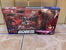 GI Joe Classified Baroness with Cobra Island Coil Motorcycle Target Exclusive