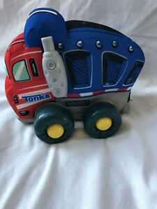 2014 Hasbro Tonka Truck With  Engine Sound Blue Red Toy