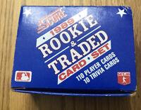 1989 SCORE BASEBALL ROOKIE & TRADED CARD SET 120 Cards Ken Griffey Jr Rookie