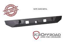 JCR Offroad Dagger Stubby Rear Bumper - Bare Metal - 07-17 Jeep Wrangler JK JKU