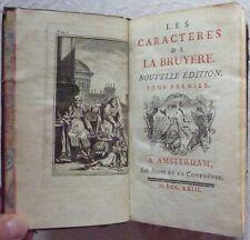 Jean de LA BRUYERE - Les caractères (Tome I) (1763)