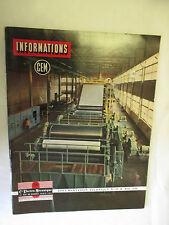 CEM informations Numéro 29  de Mai 1956 Cie électro-Mécanique Documentation Tech