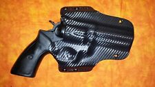 "HOLSTER BLACK KYDEX FITS Ruger GP100 4"" OWB Outside Waistband"