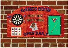 Bar Sign Sports Bar Pool Sign Pub Sign Man Cave Sign Den sign Darts Wall Plaque