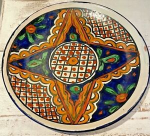 """Talavera Onofre 10"""" Plate - Mexican Wall Decor - Hand Painted"""