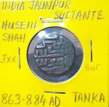 India Jaunpur Sultanate Husein Shah 863-884 AD Tanka #G57