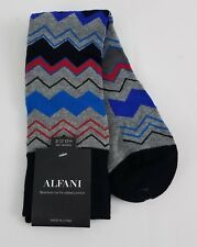 Alfani Men's Chevron Stripe Socks Light Grey Heather One Size