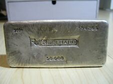 50 oz Old Poured Engelhard Silver Bar serial 234255 Very Rare