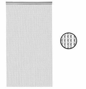 Premium Door Fly Screen 210x90cm Aluminium Chain Curtain Metal Door Curtain, New