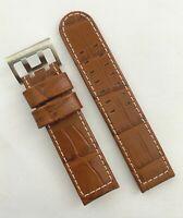 Original Hamilton Khaki Aviation 22mm Brown Leather Watch Band Strap H647150