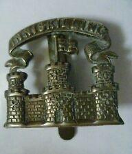 More details for royal inniskilling fusiliers cap badge all white metal slider antique original