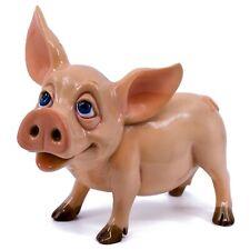 New Bone China Pig Figurine Summit Collection Pigs Statue Figure