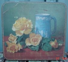 Arnotts Old Jug & Flowers with Wedgewood Type Figures Empty Tin Sold as Per Pics