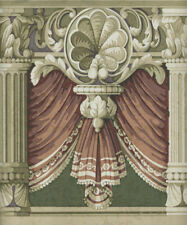 VICTORIAN DRAPERY AND COLUMNS  WALLPAPER BORDER