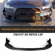 Carbon Fiber Front Bumper Chin Lip Spoiler Fit for Mitsubishi Lancer EVO X 10-12