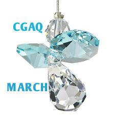 Austrian Crystal Guardian Angel Birthstone Suncatcher Aquamarine - March Ws Cgaq