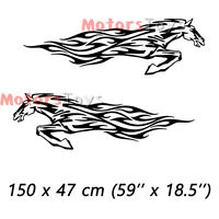 2PCS Black JDM So Cool Galloping Steed Car Side Door Vinyl Decal Decor Stickers