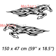 (2) JDM So Cool Galloping Steed The Side Door Hellaflush Vinyl Car Sticker Decal