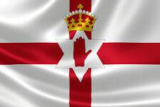 Northern Ireland Flag Ulster Hand Ni Irish Flags 5FT x 3FT Football Giant