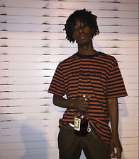 Guess x ASAP Rocky David Reactive (Orange/Navy) Style T-Shirt A$AP MOB JEANS