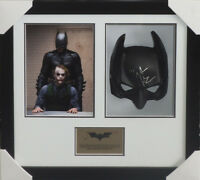 BATMAN DARK KNIGHT CHRISTIAN BALE SIGNED & FRAMED MASK PSA DNA #AD26077 LEDGER