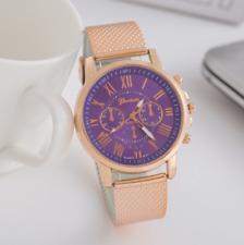 Fashion Women Watch Mesh Band Stainless Stell Quartz Analog Dress Wrist Watch HT