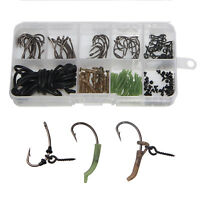 121Pcs Carp Fishing Tackle Kit Carp Rig Ring Stops Boilie Bait Screw Hook Sleeve