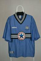 Newcastle United Away Football Shirt XL 1996/97 Brown Ale Adidas Retro Vintage