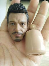 "1/6 Iron Man Tony Stark Head Sculpt The Avengers F 12"" Male Body Action Figure"