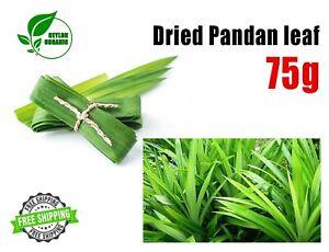 Dried Pandan Pandan leaf Rampe Pandanus Amaryllifolius 75g Free shipping