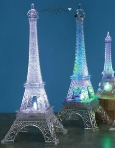 LED Light Eiffel Tower Paris Parisian French France Wedding Cake Topper Decor