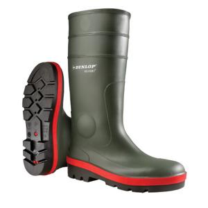 Dunlop Acifort Tricolour Full Safety Wellie Wellington Boot, Green, Size 4-12