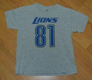 Detroit Lions Calvin Johnson Megatron Football Jersey T Shirt Youth Large 14-16