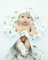 Handmade 10'' Full Body Silicone Vinyl Likelife Reborn Baby Boy Doll Newborn Toy