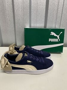 Puma Womens Suede Bow Varsity Pumps, Size UK 4 New