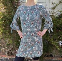 NEW H&M MORRIS & CO. size 4 tie sleeve shift dress