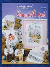 Cross Stitch Pattern Snug As A Bug Girl & Boy Birth Announcement & Afghan Design