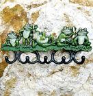 Listón con Ganchos hierro fundido pared armario 5 rana de la para ropa NUEVO