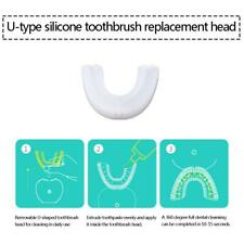 1Pcs Adult Electric Toothbrush Replacement Heads U-shape Silicone Transparent #1