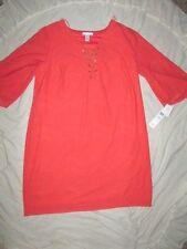 NEW! $110 London Times size 22W plus size womens dress coral orange lace occasio