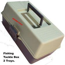 TOOL BOX, FISHING TACKLE BOX, SEWING KIT BOX WITH 2 TRAYS & DIVIDERS - NEW