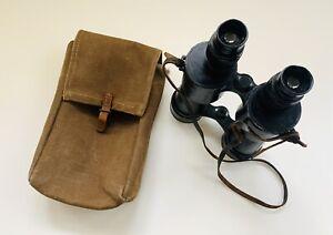 World War 2 Naval Type Binoculars Huet & Co, Paris 7x50 1111 Dienstglas In Case