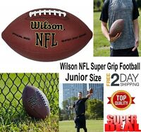 Wilson Ball NFL Official Junior Size Duke Football Field Game Authentic Leather