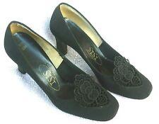1979 Women's Isis Black Dress Shoes, Pumps size 6-M Excellent Condition