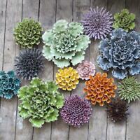 """Ceramic coral flowers, wall hanging, decorative, terrarium, rare/unusual """"CHIVE"""""""