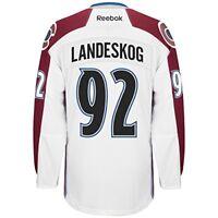 Gabriel Landeskog Colorado Avalanche Reebok Premier Away Player Jersey-White LG