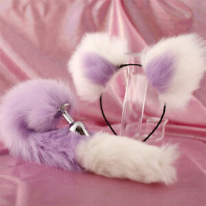 Fox Tail Ears Plug Romance Adult Game Funny Toy Cosplay Sexy Set