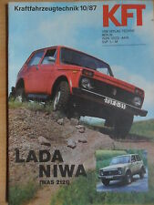 KFT KRAFTFAHRZEUGTECHNIK 10 - 1987 5* Lada Niwa WAS 2121 Suzuki Swift Omnibusbau