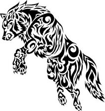 TrIbal Wolf #2 Decal VINYL STICKER Funny WINDOW CAR