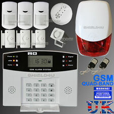 LCD SECURITY WIRELESS GSM AUTODIAL HOME HOUSE OFFICE BURGLAR INTRUDER FIRE ALARM